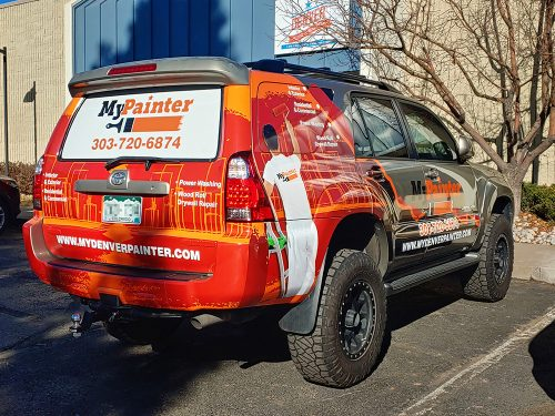 Vehicle graphics wrap MyPainter Toyota 4runner