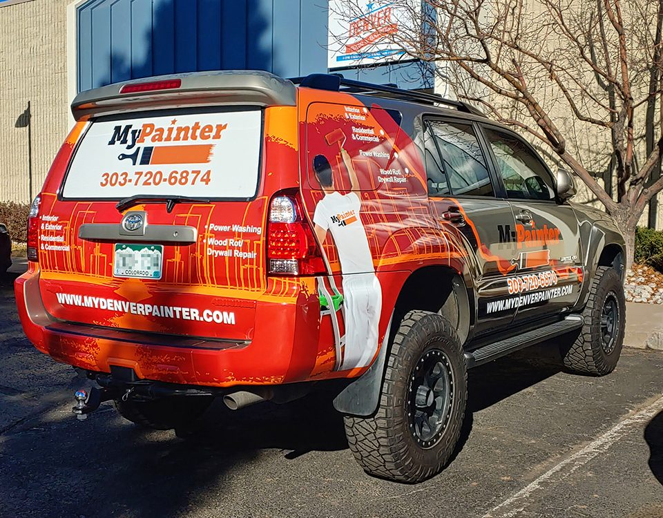 Vehicle graphics wrap MyPainter Toyota 4runner