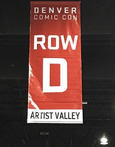 row d comic con banner