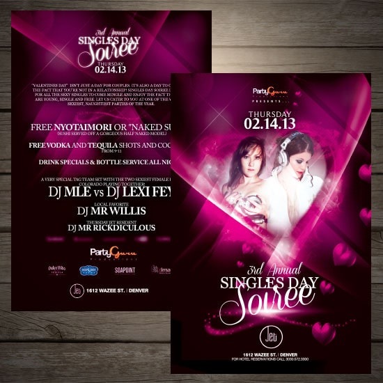 single soiree flyer