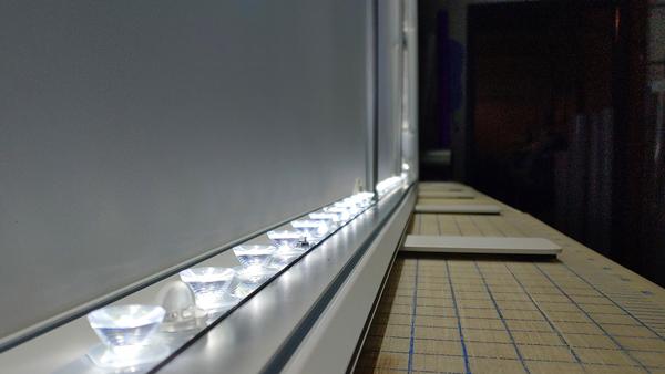 back-lit trade show display wall