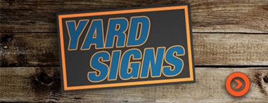 yard signs from denver print company