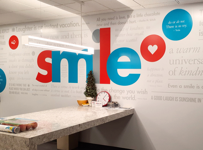 wall graphics for g&A partners