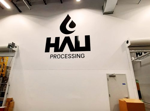 hau processing wall graphic