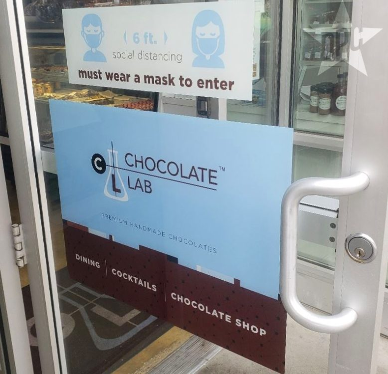 wibndow graphics for chocolate lab by denver print company