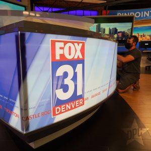 fox 31 news desk by denver print company