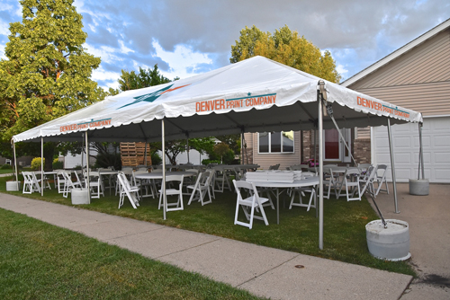 custom canopy open design from denver print company