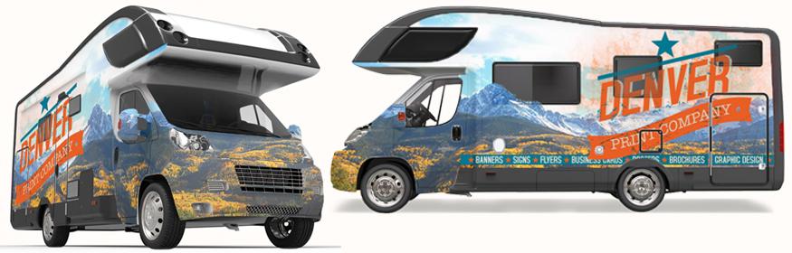 Custom RV graphics Denver Print Company