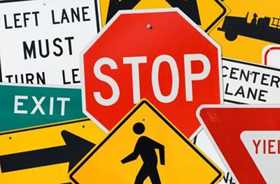 metal road signs
