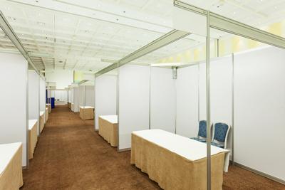 empty trade show exhibit space denver